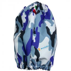 Paraorecchie Cane Universale camouflage blù